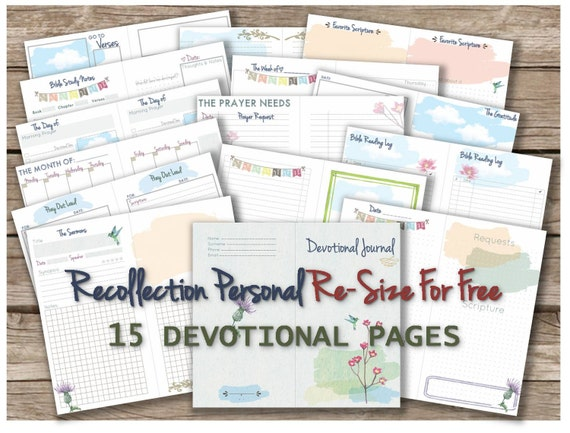 Bible journaling kit printable devotional journal templates bible journaling kit printable devotional journal templates for recollections planner notebook bible study inserts any re size is free pronofoot35fo Gallery
