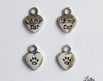 10 i love my cat charms - SCC129