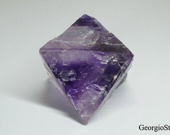 Diamond shaped Purple Fluorite Cleaved Octohedron Crystal from USA