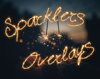 Sparklers Photo Overlays - Christmas Sparklers - Christmas Photo Overlays - Holiday Photo Overlays - INSTANT DOWNLOAD