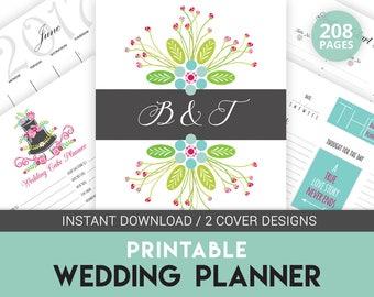 Digital Wedding Planner Book, Printable Wedding Organizer, Wedding Binder Printable, Wedding Checklists