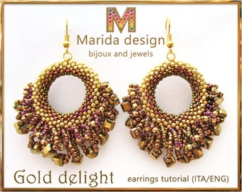 "Tutorial ""Gold Delight"" earrings"