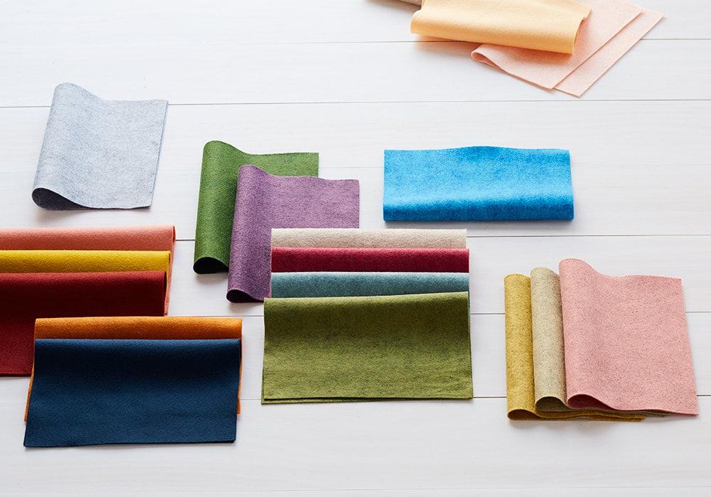 Felt fabrics available on Etsy Studio