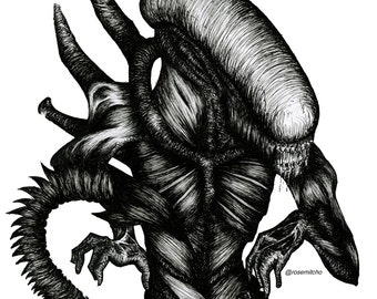 Xenomorph Print