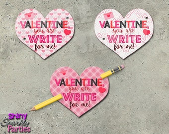 pencil valentines heart valentine cards valentines for school school valentines classroom valentines