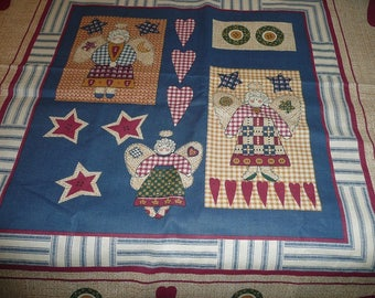 Country Angels Pillow Panels 2 Views 1 Yard 17 Inches
