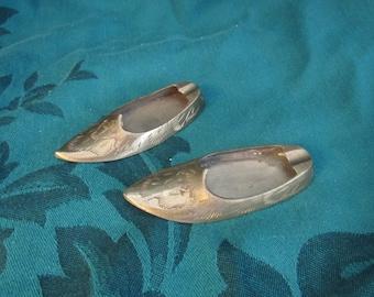 Miniature Brass Elf Shoe Ashtray