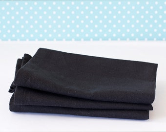 Black Hemp & Organic Cotton Napkins – Eco-friendly Table Linen - Hemp Table Linen