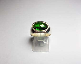 Ring chrome diopside 925