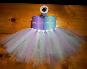Periwinkle Princess Custom Tutu - lavender, light blue & white sparkle tulle pet tutu, dog tutu, princess tutu dress up cute pet accessories