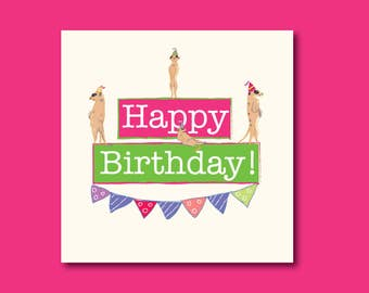 Funny Meerkat Birthday Card