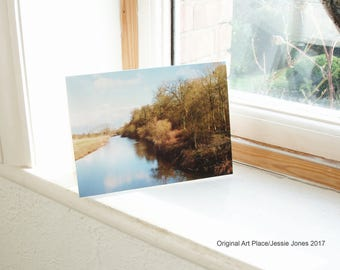 River At Attingham Park card with envelope, 5x8 inches, blank inside, by Jessie Jones.