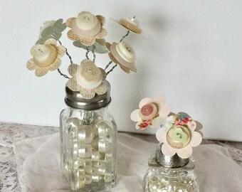 DIY Kit - Create your own - Craft Kit - Salt Shaker Bouquet- Upcycled Salt Shaker - Vintage Salt Shaker -
