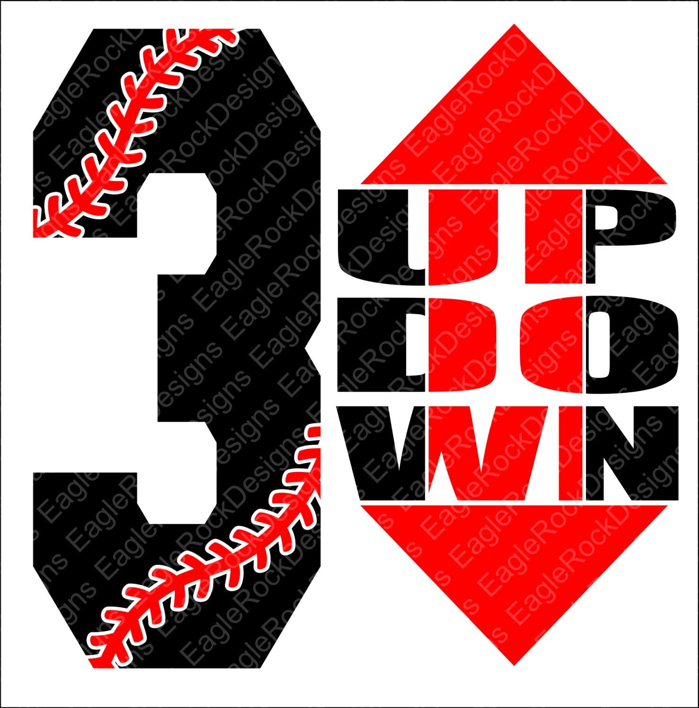 3 Up 3 Down Baseball Softball Svg Dxf Eps Png Cut File