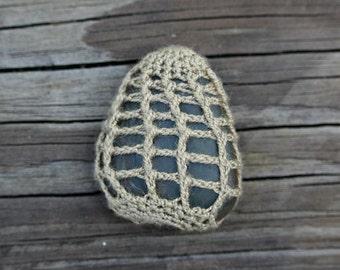 Small Crochet Stone // Handmade // Free Shipping
