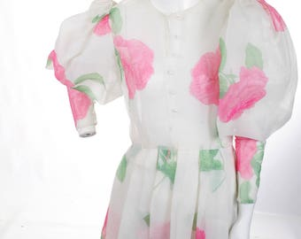 FREE US SHIPPING Vintage Victor Costa Leg of Lamb Floral Dress