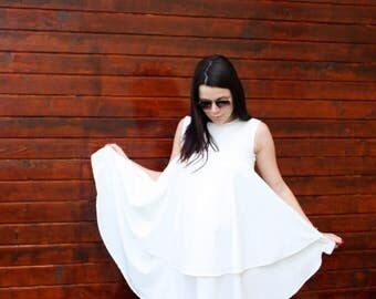 Dress /white dress /maxi dress /plus size dress /romantic dress