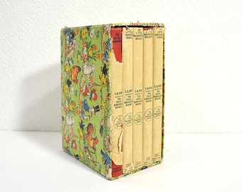 Antique Children's Books Boxed Set- Lillian Elizabeth Roy's The Little Washingtons, Set of 5 Hardcover Books with Dust Jackets in Box