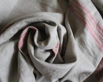 Premium Linen fabric, Huckaback ,natural linen, rustic linen, flax, wedding decor, softened linen,grainsack linen