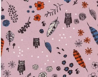 1 Yard Cozy by Cotton and Steel- 5144-01 Dream Owl Lilac