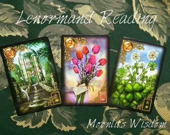 Decision Spread, Tarot Card Reading, Lenormand Card Reading, Quick Divination Reading, Intuitive Psychic Guidance, Empowering Oracle Reading