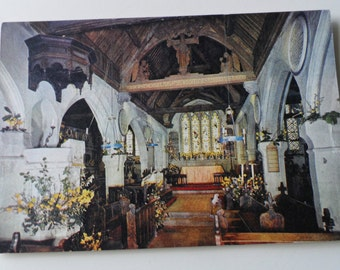 Shorwell Church Old J Arthur Dixon Photogravure Postcard I.W. 2944