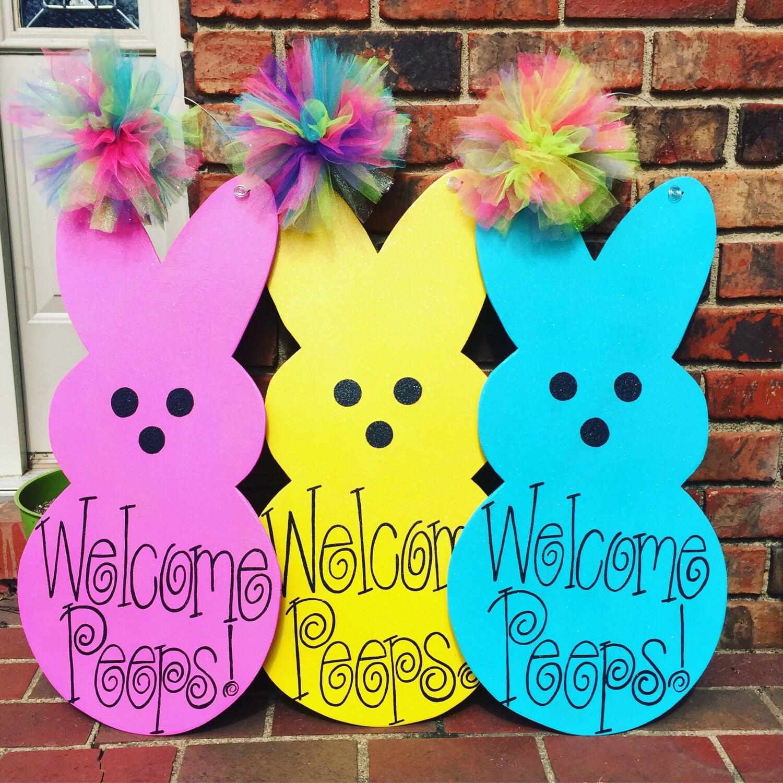 ?zoom  sc 1 st  Etsy & Bunny Door Hanger Rabbit Door Hanger Spring Door Hanger pezcame.com