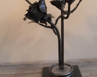 Roses and Hummingbird