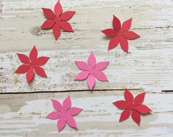 Poinsettia Flower Confetti