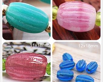 Lamp work Gear Glaze Bead Barrel bead Glass Beads Lucky Bead Design Charm DIY bracelets Bead Supply