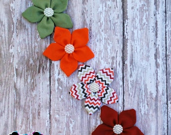 4pc Fall Flower Clips