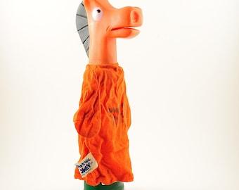 Vintage 1965 Pokey hand puppet. Pokey was Gumby's side kick