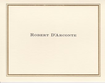 A Personalized Double Rule Border Foldover Note