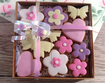 Mini Spring biscuits - hand baked and decorated