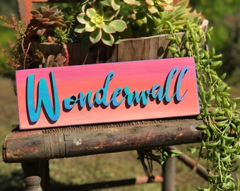 Wonderwall/lasercut/wall decor/wall art