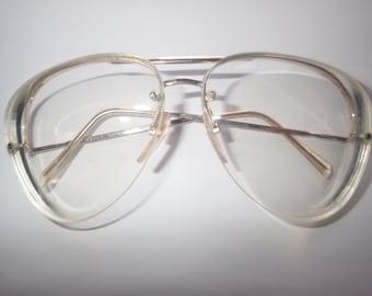 Safilo UFO 1 Aviator Half Rim Frame Eyeglasses/Sunglasses Italy