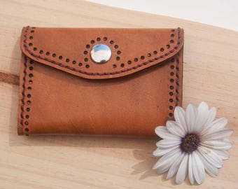 Leather Wallet / Leather wallet / Leather Card holder / Leather coin purse / Handmade dyed wallet