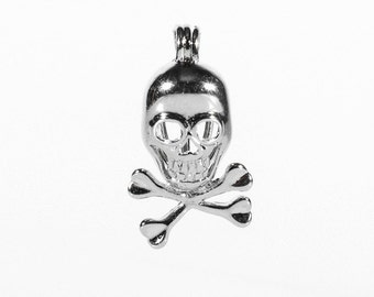 Pirate Skull Charm, Charms, Oyster, pearl, pearl cage, anniversary gift, birthday, wedding gift, birthstone, pearl oyster, party favors
