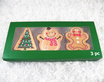 Set of 3 Christmas Rubber Stamp