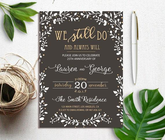 We Still Do Vow Renewal Invitation Vow Renewal Wedding