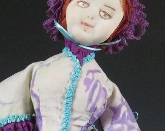 Green Mountain Doll Club 1983 Civil War era cloth doll
