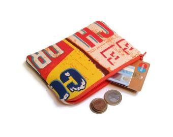 Coin purse, Zipper pouch, Phone wallet, Makeup bag, Jewelry pouch, Gadget case, Organize, Cosmetic case, Retro