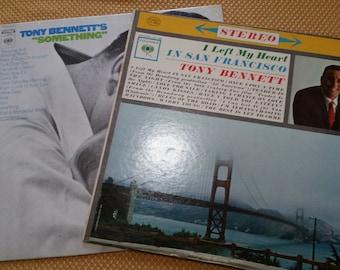 "Vintage Tony Bennett - 2 LP Lot - ""I Left My Heart in San Francisco"" - ""Something"" - Ex. Condition"