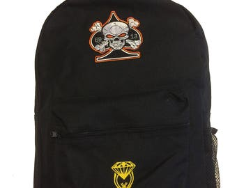 Skull Backpack Women Men Travel Rucksack Casual Large School Bag