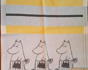 "Moomin Towel. 35 cm x 50 cm. ""14x20"" Moomin Characters. Made in Sweden"