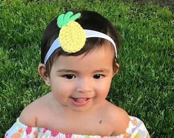 Pineapple hair accessory, pineapple headband, pineapple  clip, summer hair accessory
