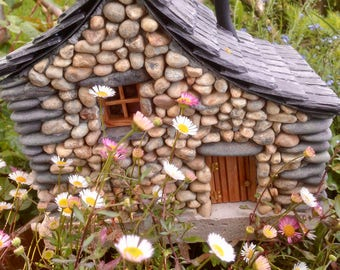 Fairy House for the Garden ~ 'Periwinkle Cottage'