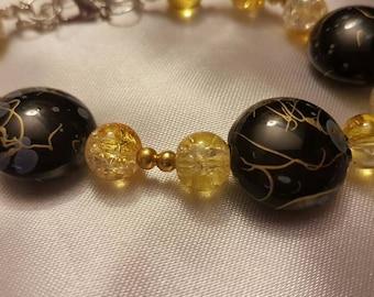 Gold shimmer bracelet