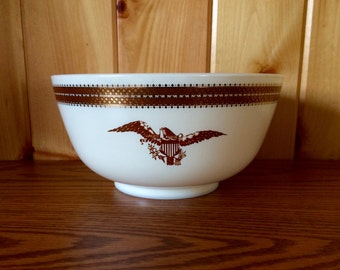 Pyrex Federal Eagle Mixing Bowl - Pyrex Bowl - Vintage Pyrex - Pyrex - Federal Eagle Pattern Pyrex