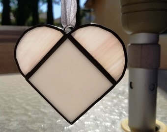 Pink and White Heart Shaped Suncatcher